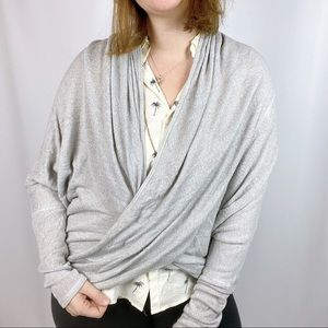 Anthropologie Wrap Front Sweater
